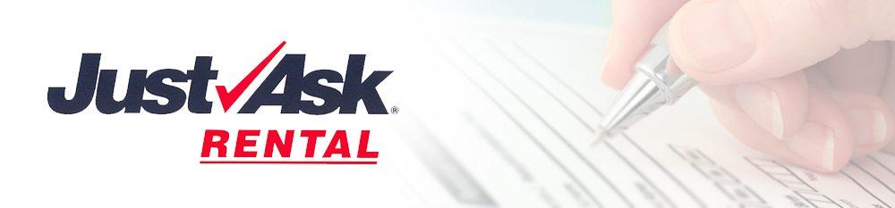 Just Ask Rental logo.